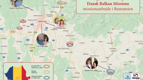 Oversigtskort over placering af DBMs multihuse i en rumænske Argos-region.